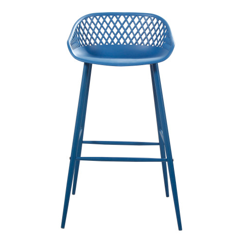 PIAZZA OUTDOOR BARSTOOL BLUE-SET OF TWO