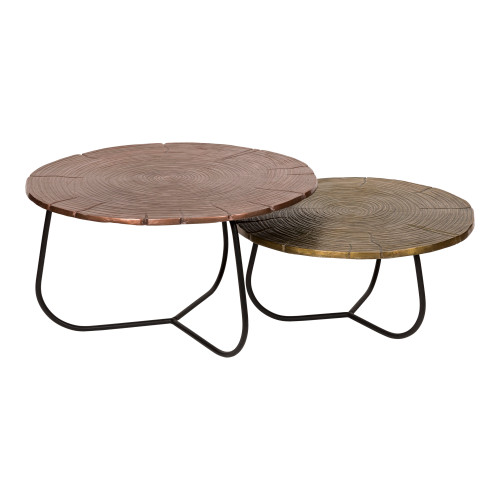 CROSS SECTION TABLES SET OF TWO