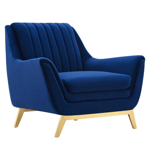 Winsome Channel Tufted Performance Velvet Armchair