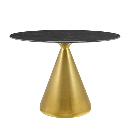 """Tupelo 42"""" Oval Artificial Marble Dining Table"""