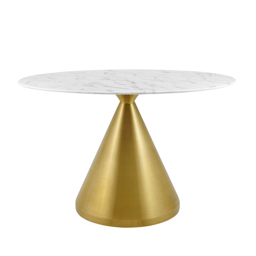 """Tupelo 48"""" Oval Artificial Marble Dining Table"""