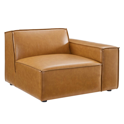 Restore Right-Arm Vegan Leather Sectional Sofa Chair