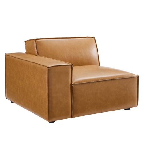 Restore Left-Arm Vegan Leather Sectional Sofa Chair