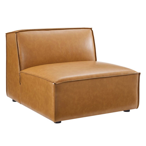 Restore Vegan Leather Sectional Sofa Armless Chair