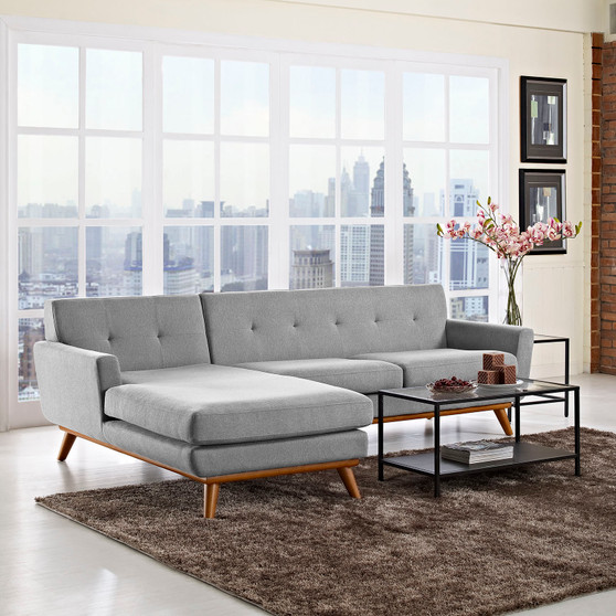Engage Left-Facing Sectional Sofa Expectation Gray EEI-2068-GRY-SET