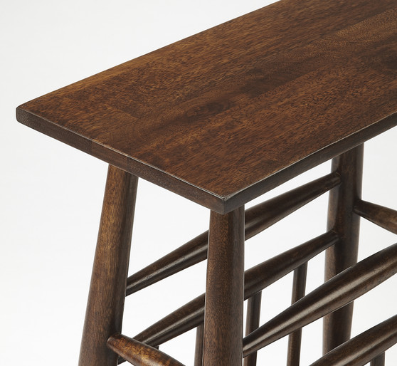 BUTLER BOWEN SOLID WOOD MAGAZINE TABLE