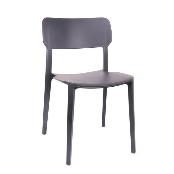 Design Lab MN LS-9605-BLKGRY Viro Black Grey Outdoor Dining Chair Set of 4