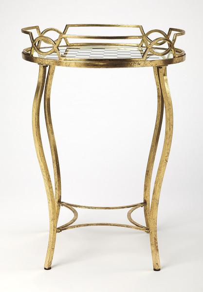 Butler Judith Antique Gold Game Table