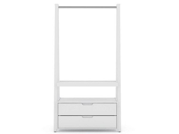 Manhattan Comfort Rockefeller Kitchen Pantry with 2 Drawers in White