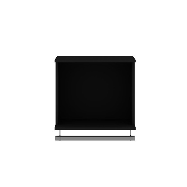 Manhattan Comfort Rockefeller 20.8 Open Floating Hanging Closet with Shelf and Hanging Rod in Black