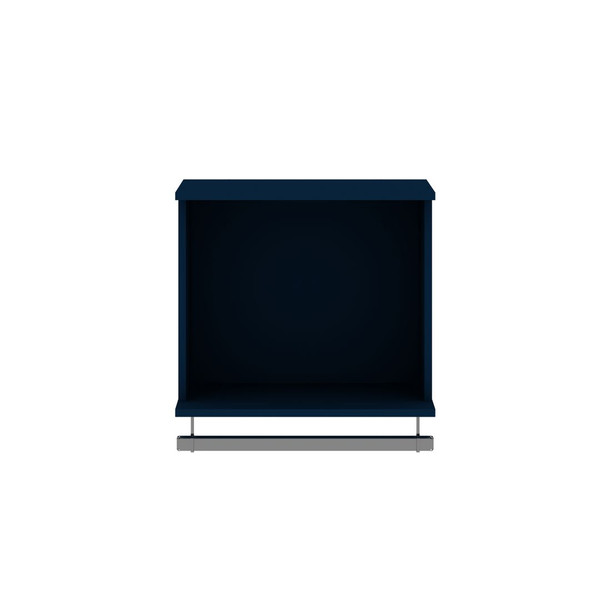 Manhattan Comfort Rockefeller 20.8 Open Floating Hanging Closet with Shelf and Hanging Rod  in Tatiana Midnight Blue