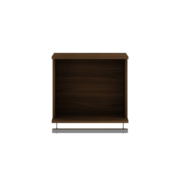 Manhattan Comfort Rockefeller 20.8 Open Floating Hanging Closet with Shelf and Hanging Rod in Brown