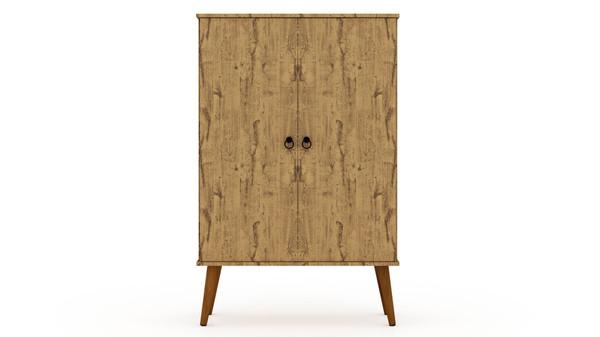 Manhattan Comfort Tribeca Mid-Century-Modern Accent Storage Cabinet with Adjustable Shelves in White