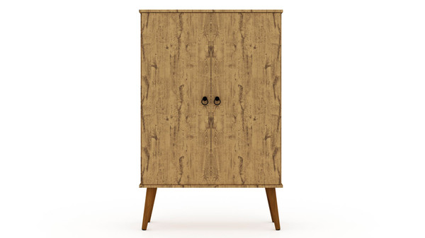 Manhattan Comfort Tribeca Mid-Century-Modern Accent Storage Cabinet with Adjustable Shelves in Nature