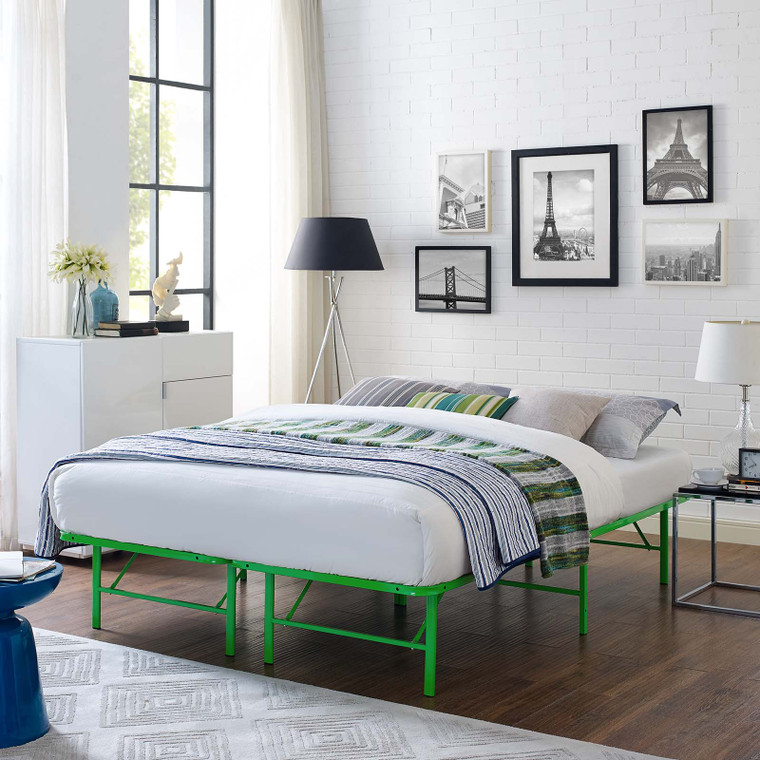 Horizon Queen Stainless Steel Bed Frame Green MOD-5429-GRN
