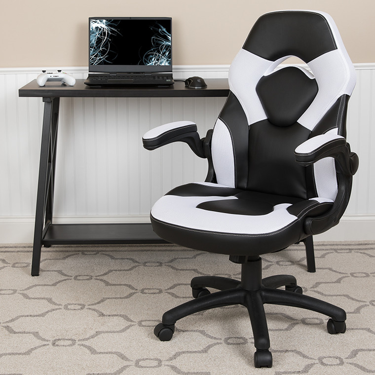 Contemporary Swivel Video Game Chair