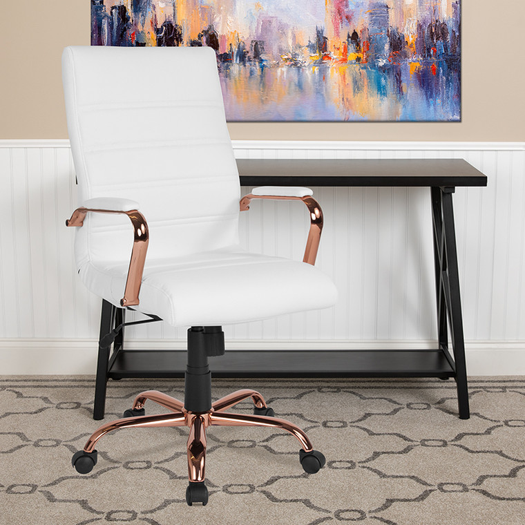 Contemporary Executive Office Chair with Arms