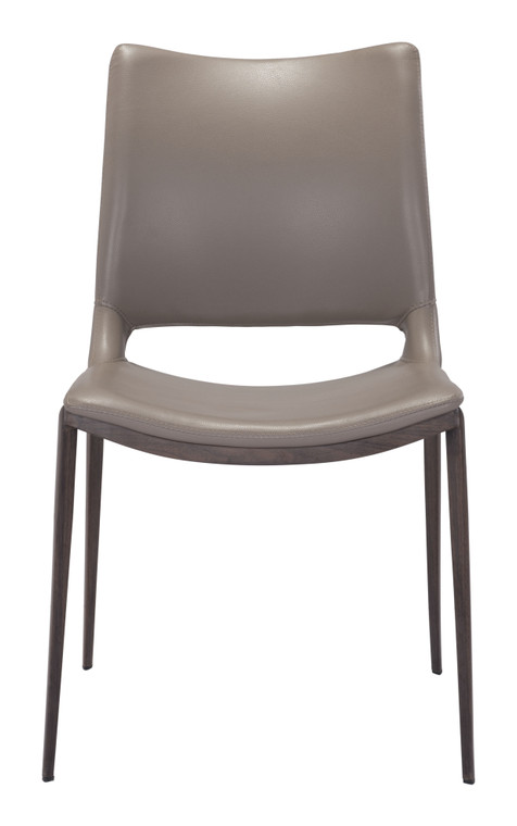 Ace Dining Chair Gray & Walnut Set of Two