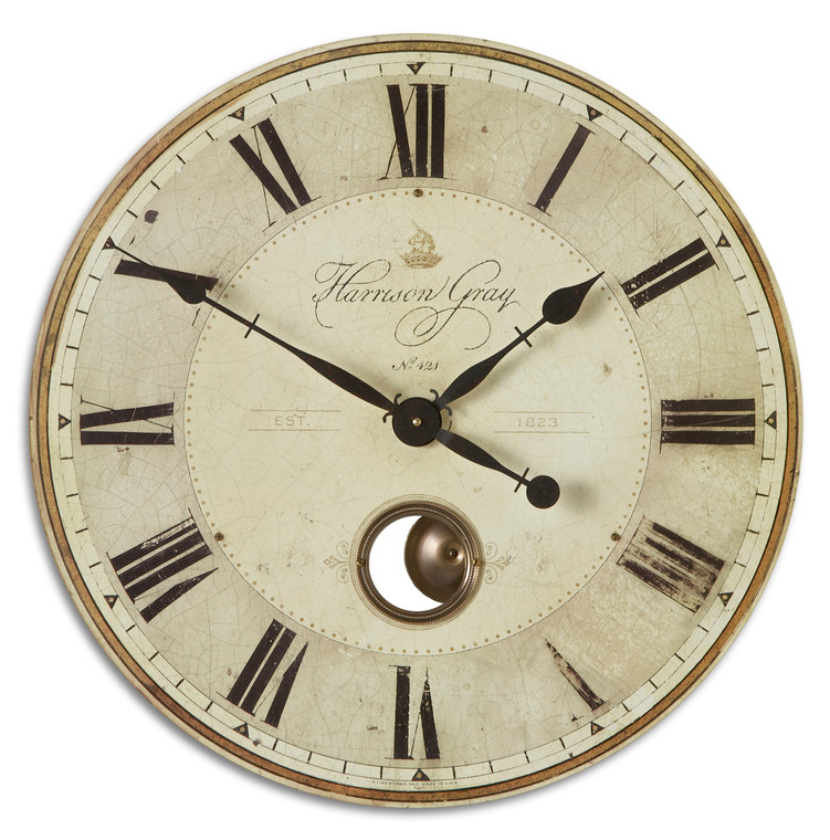 "Uttermost Harrison Gray 23"" Clock"
