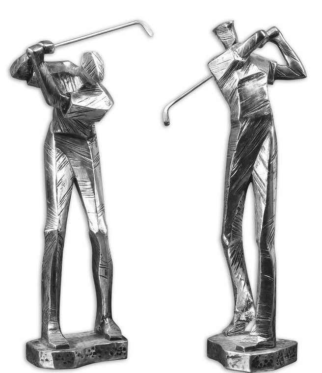 Uttermost Practice Shot Metallic Statues, Set/2