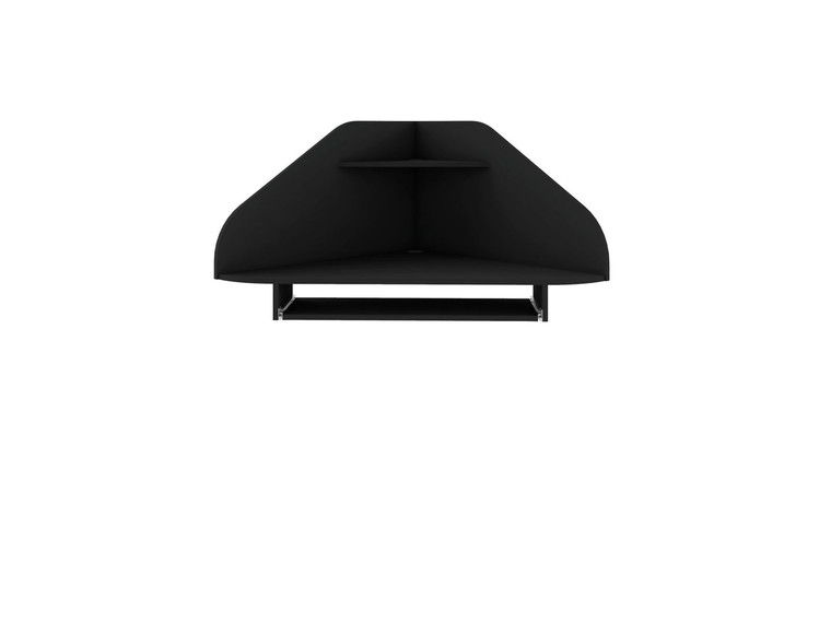 Manhattan Comfort Bradley Floating Corner Desk with Keyboard Shelf in Black
