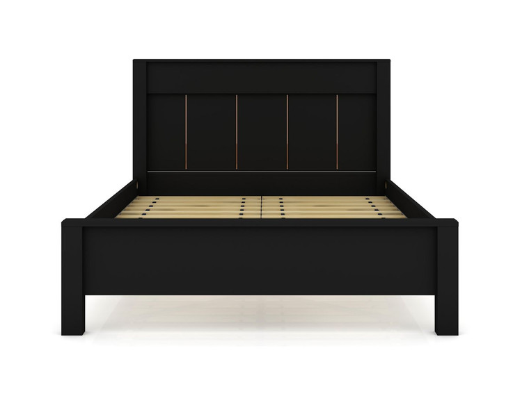Manhattan Comfort Gramercy Queen-size Modern Bedframe with Headboard in Black