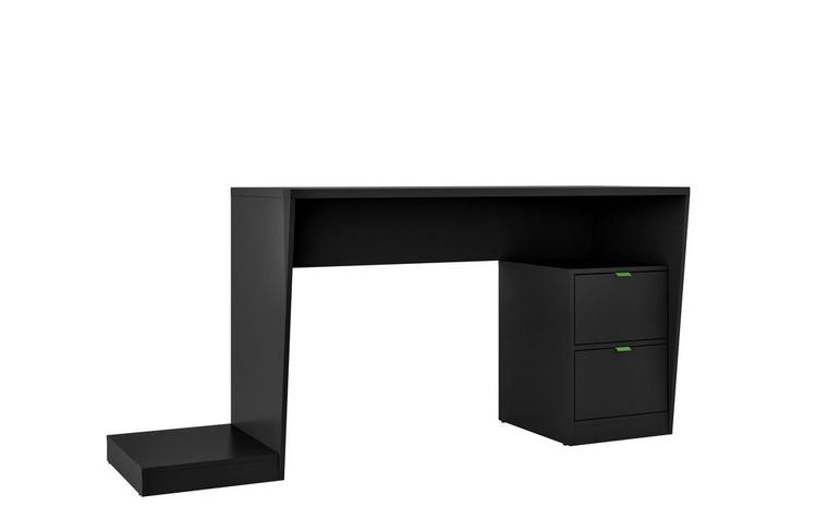Manhattan Comfort Randalls Gamer Desk 1.0 with 2 Drawers in Black