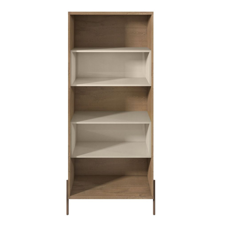 Manhattan Comfort Joy 5- Shelf Bookcase in Off White
