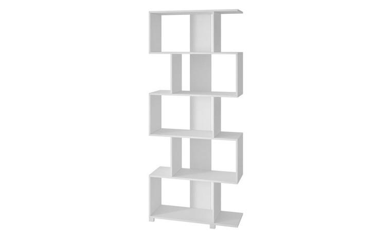 Manhattan Comfort Charming Petrolina Z- Shelf with 5 shelves in White