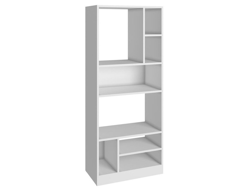Manhattan Comfort Durable Valenca Bookcase 3.0 with 8- Shelves in White