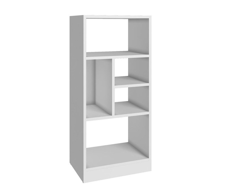 Manhattan Comfort Durable Valenca Bookcase 2.0 with 5- Shelves in White