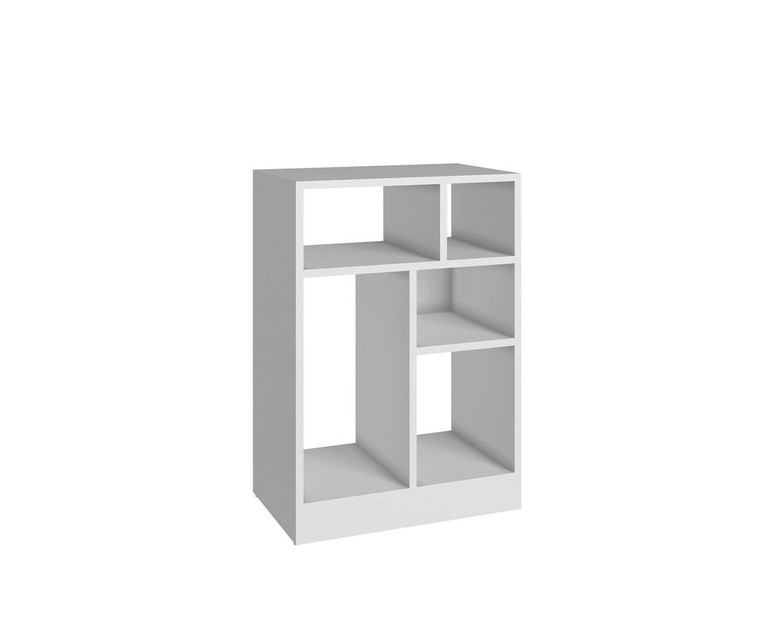 Manhattan Comfort Durable Valenca Bookcase 1.0 with 5- Shelves in White