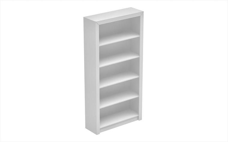 Manhattan Comfort Classic Olinda Bookcase 1.0 with 5-Shelves in White