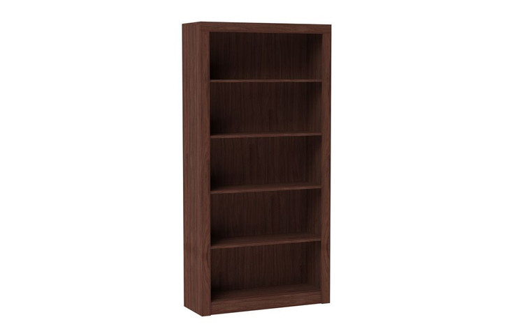 Manhattan Comfort Classic Olinda Bookcase 1.0 with 5-Shelves in Nut Brown