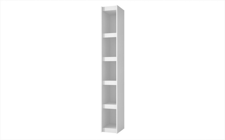 Manhattan Comfort Valuable Parana Bookcase 1.0 with 5-Shelves in White
