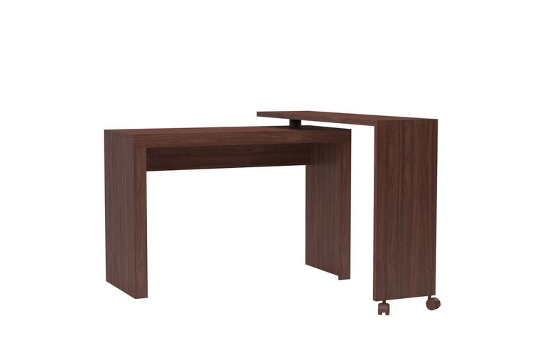 Manhattan Comfort Innovative Calabria Nested Desk in Nut Brown