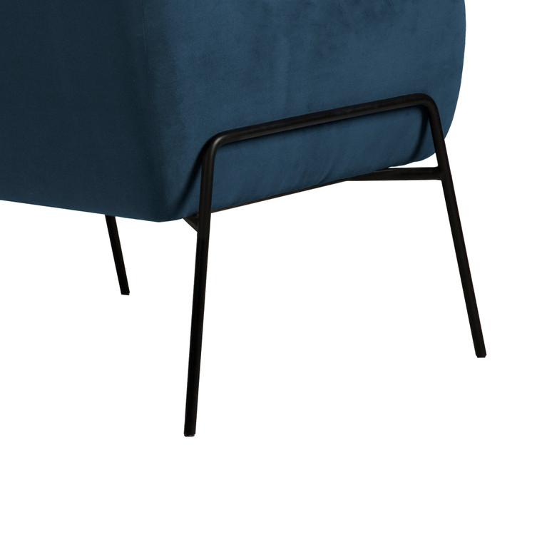 Karen Blue Velvet Modern Accent Chair