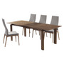 Parker Mid-Century Walnut Wood 5 Piece Dining Set
