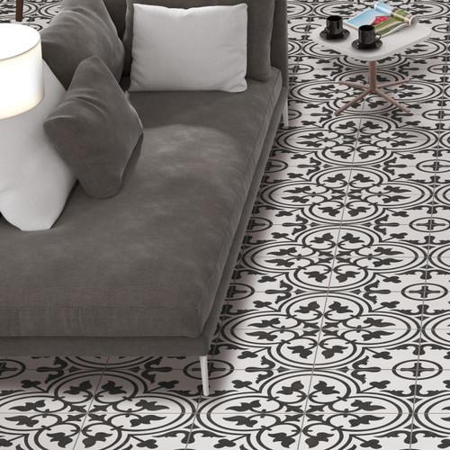 Arte White Patterned Porcelain Tile