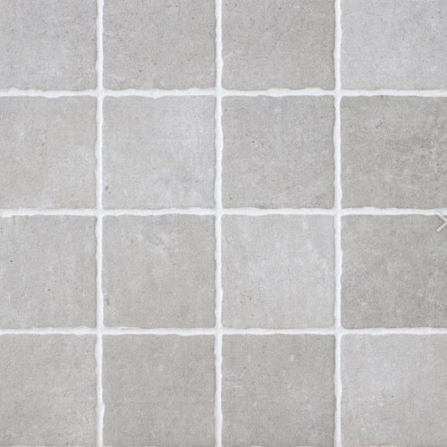 Silver mosaic style tiles