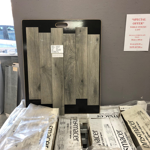 Clearance Grey Wood Effect Tiles