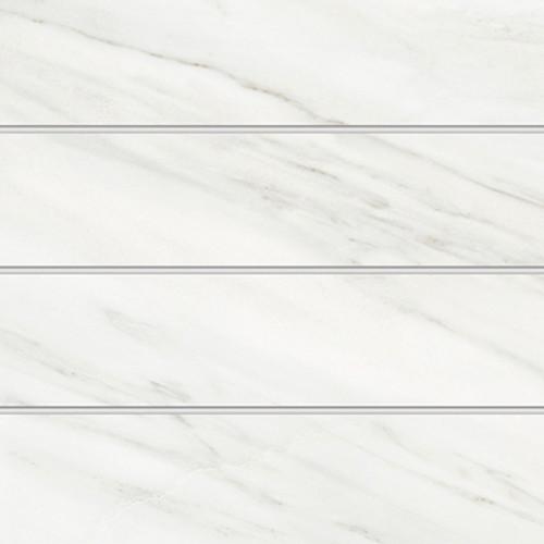 White pre-cut porcelain tiles