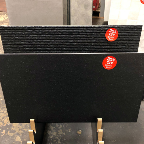 Discounted black porcelain tiles