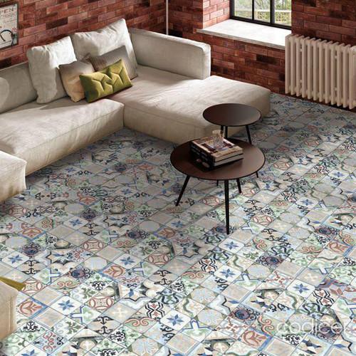 Coloured Patterned Porcelain Tiles