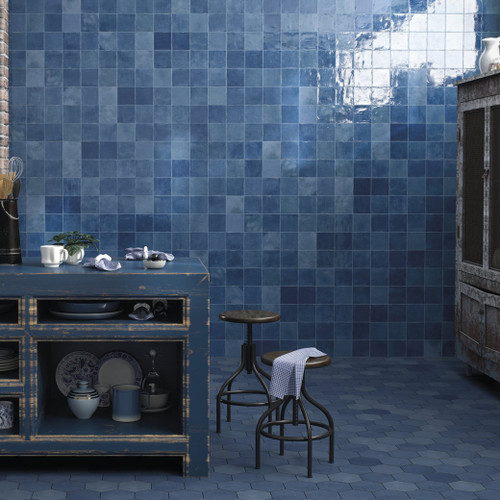 Blue Ceramic Wall Tiles Liverpool