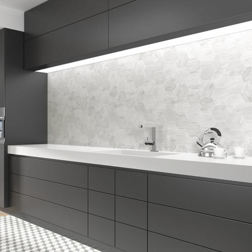Grey Hexagonal Tiles