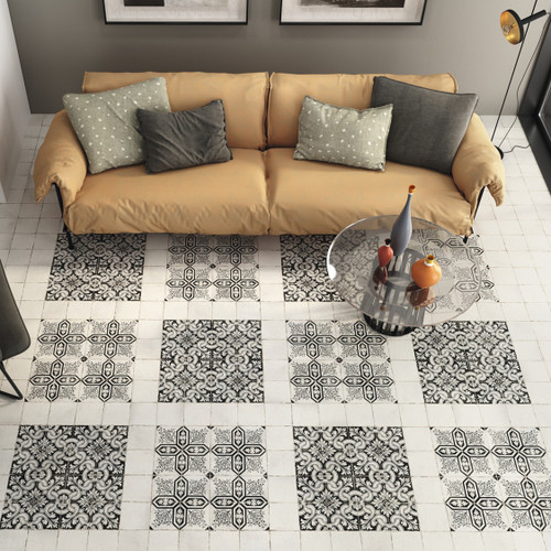 Black and White Patterned Porcelain Tiles Liverpool