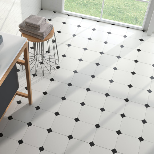 Black and White Tiles in Liverpool