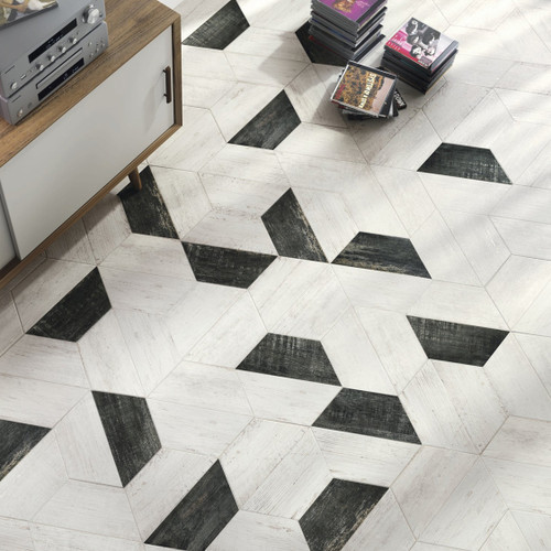 Black and White Wood Effect Tiles in Liverpool