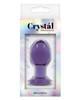 Crystal Premium Glass Plug - Medium - Purple - Packaging